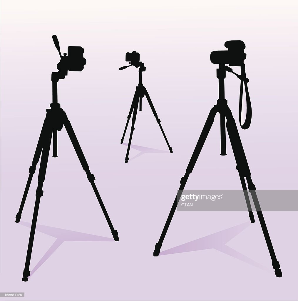 camera and tripod set : stock illustration