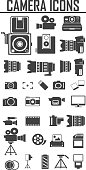 camera and Video icons set ,Illustration eps 10, Big pack