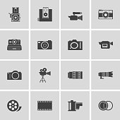 camera and Video icons set ,Illustration eps 10