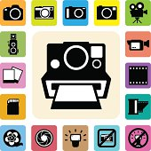Camera and Video icons set .