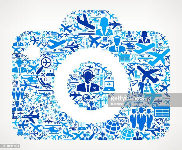 Camera  Aviation and Air Planes Vector Graphic
