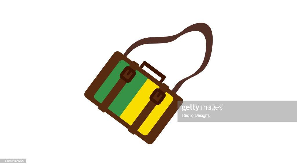 Camera bag icon : stock illustration