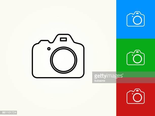 DSLR Camera Black Stroke Linear Icon