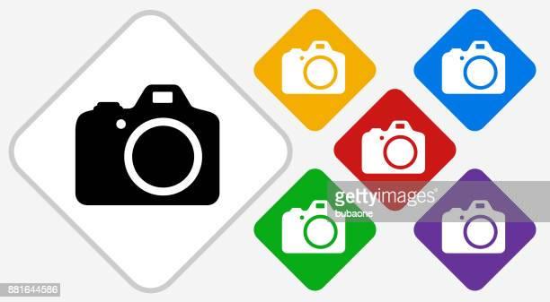 DSLR Camera Color Diamond Vector Icon