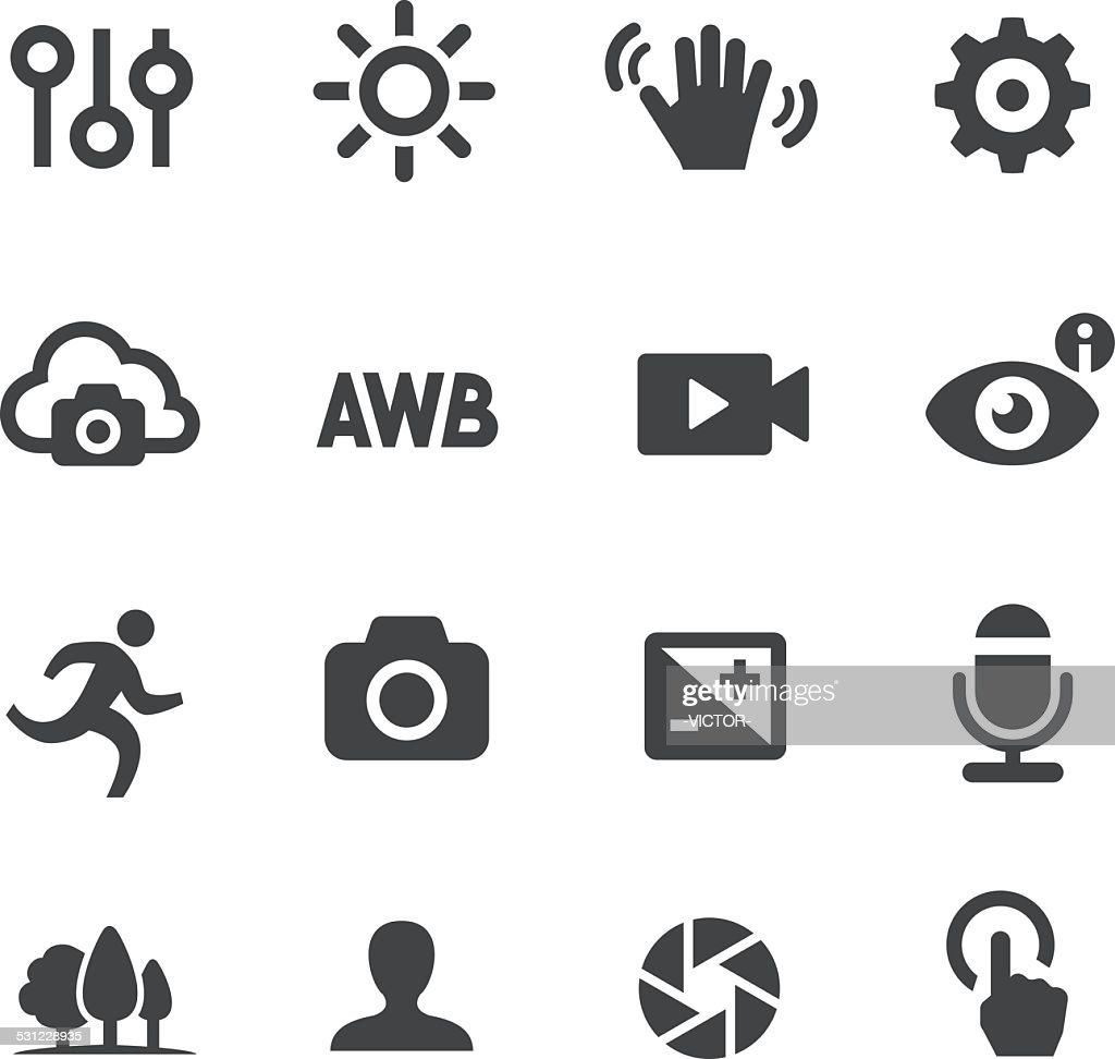 Camera control Icons - Acme Series