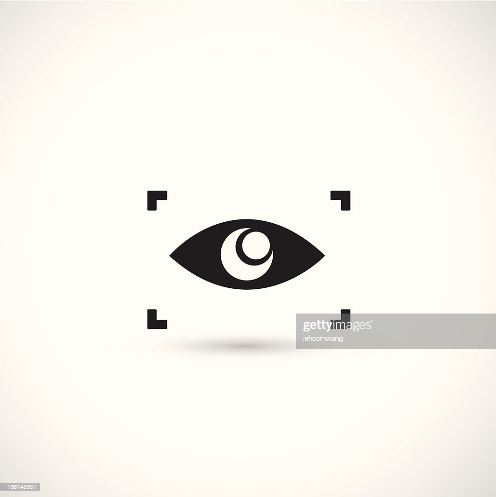 A camera crop symbol around an illustration of an eye