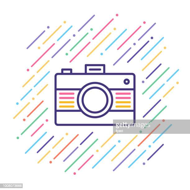 Camera Equipment Line Icon
