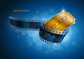 Camera film strip and gold ticket.