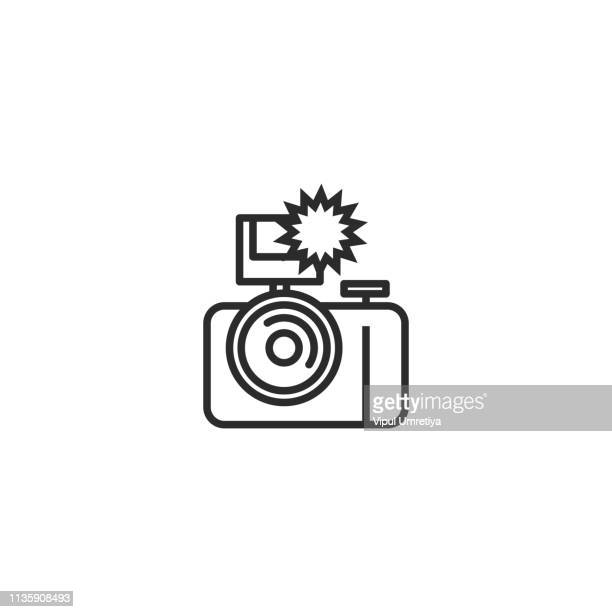 Camera flash rounded icon
