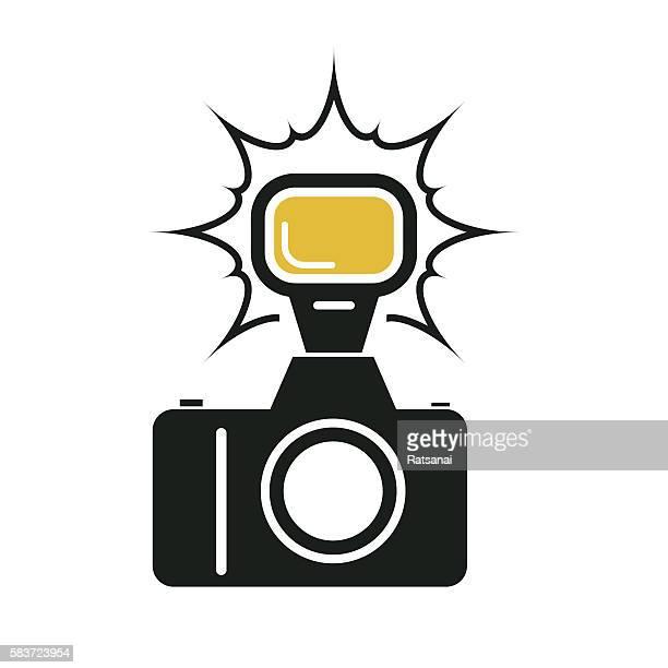 camera flash - flash stock illustrations
