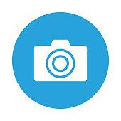 camera glyphs flat circle icon