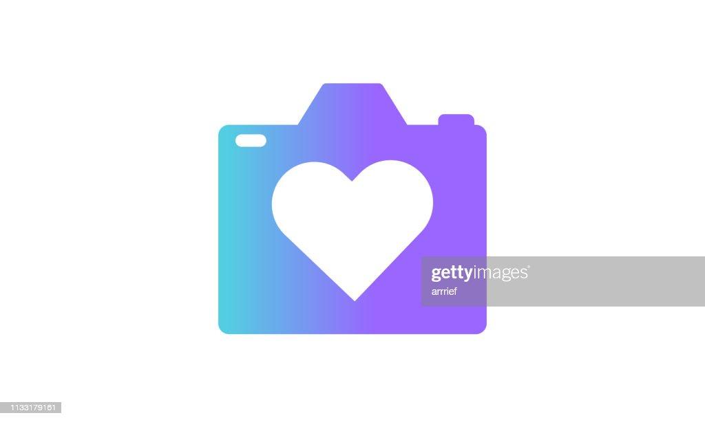 camera icon concept. modern gradient style
