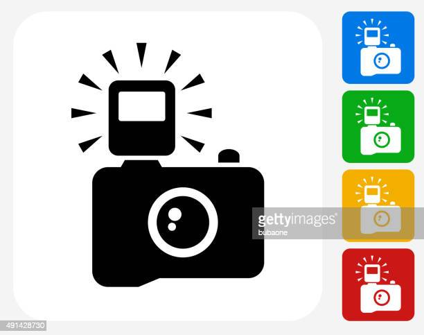 Camera Icon Flat Graphic Design