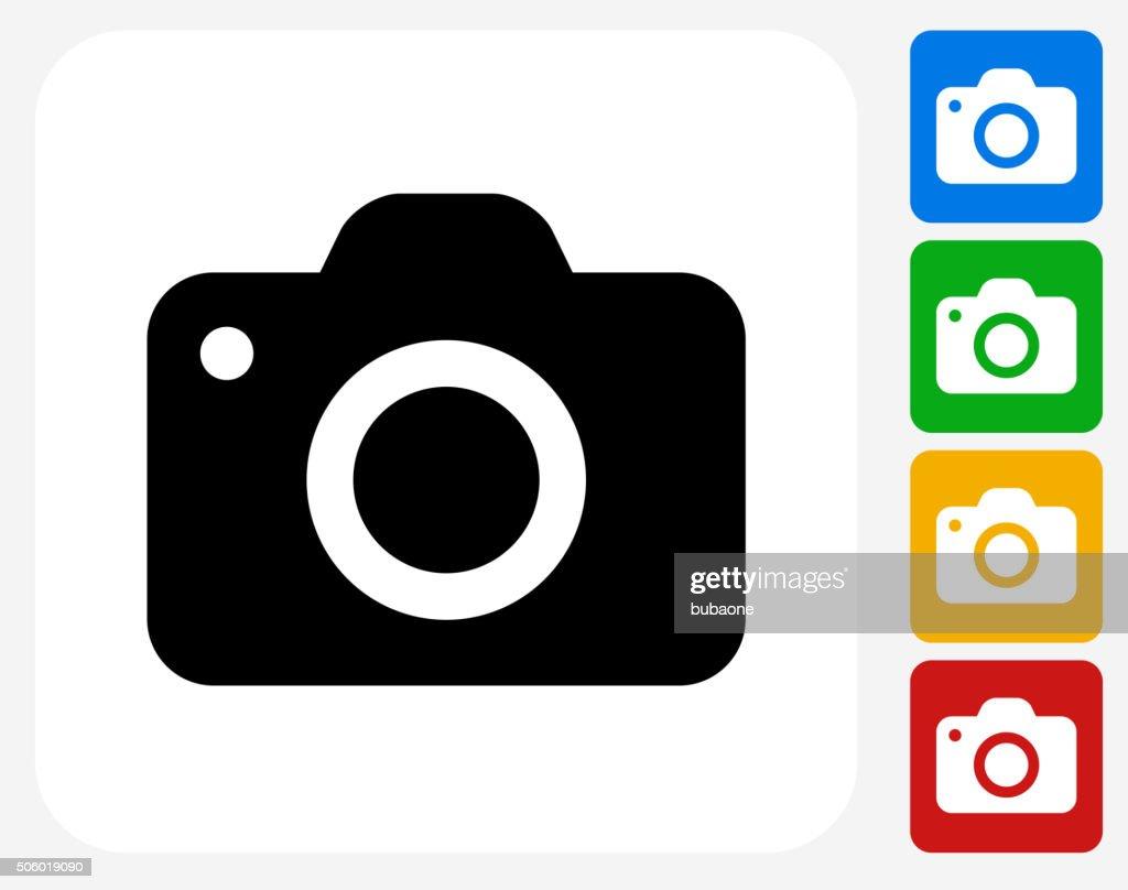 Camera Icon Flat Graphic Design : stock illustration