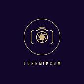 Camera icon, photography logo