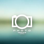 camera icon vector design