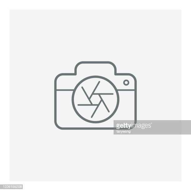 camera icon - webcam media apparaat stock illustrations