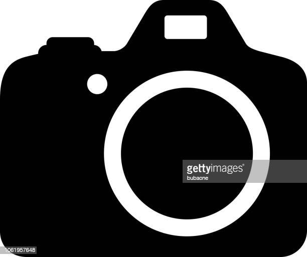 DSLR Camera Icon with Long Shadow
