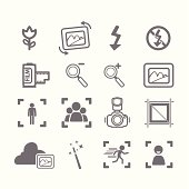Camera icons menu