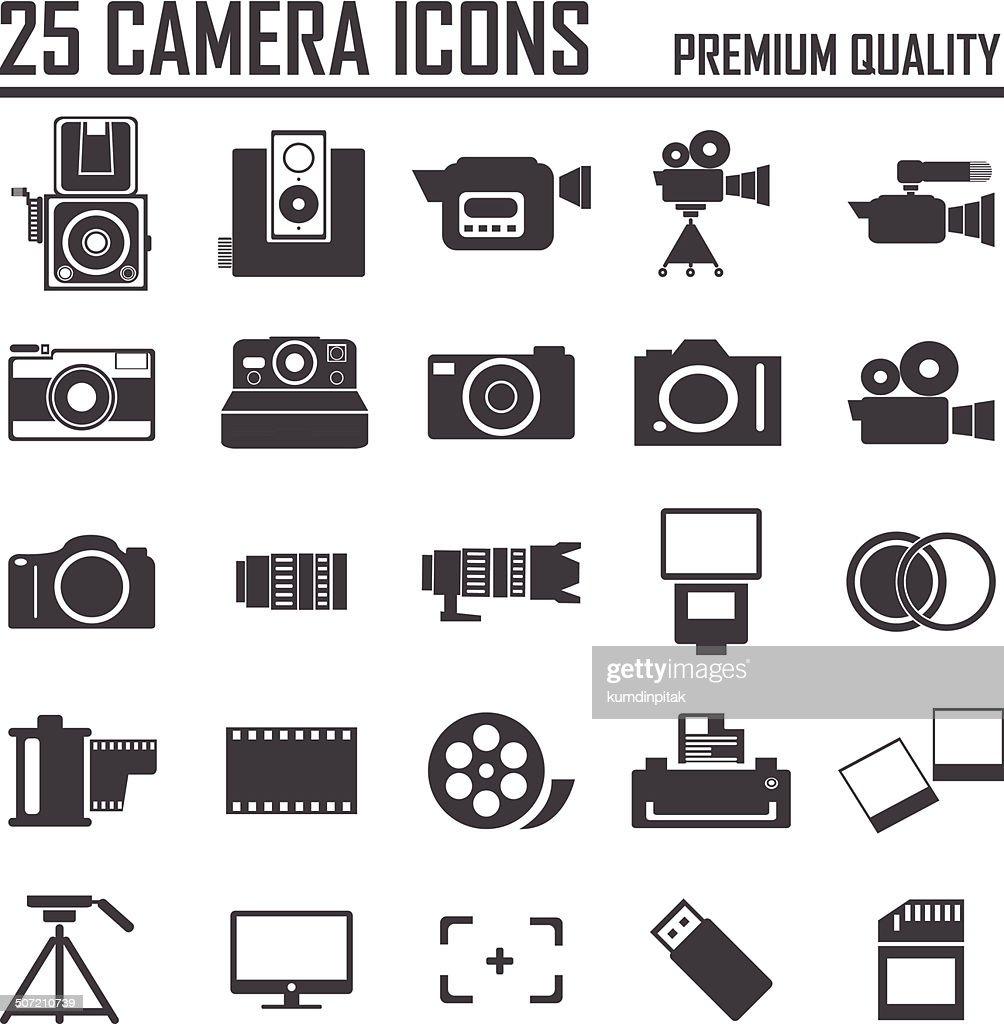 25 camera icons, premium quality