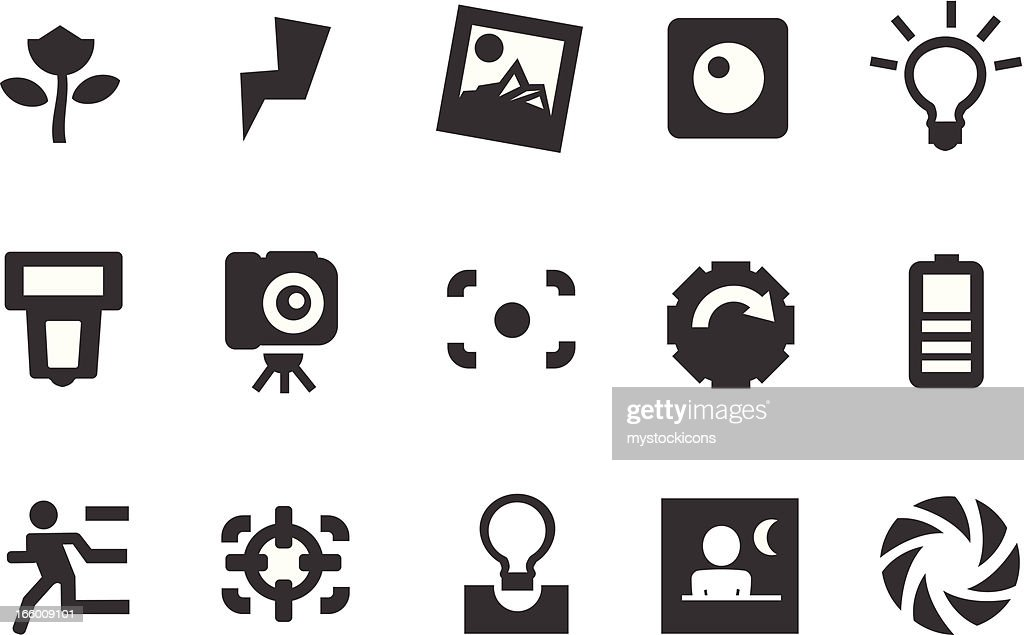 Camera Icons Vector Art Getty Images