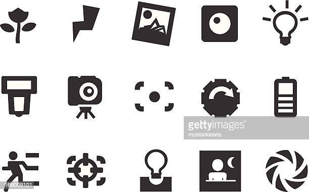 camera icons - light meter stock illustrations, clip art, cartoons, & icons