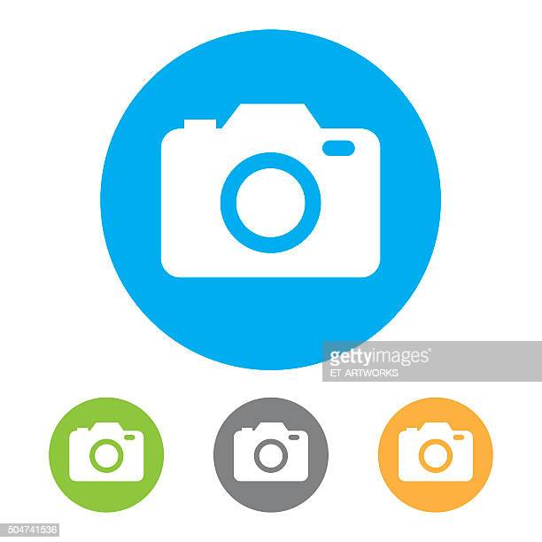 camera icons. vector - video camera stock illustrations, clip art, cartoons, & icons