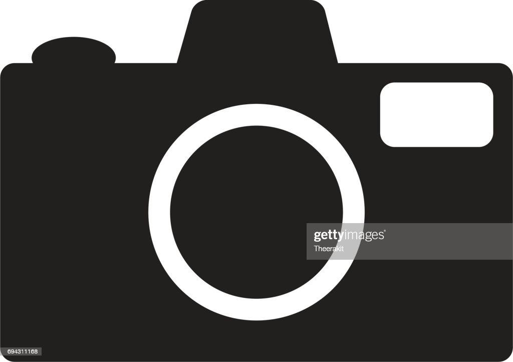 camera lens icon. photography symbol.