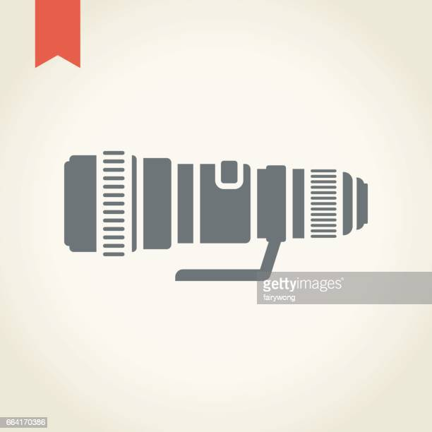 camera lens icon - architectural feature stock illustrations, clip art, cartoons, & icons