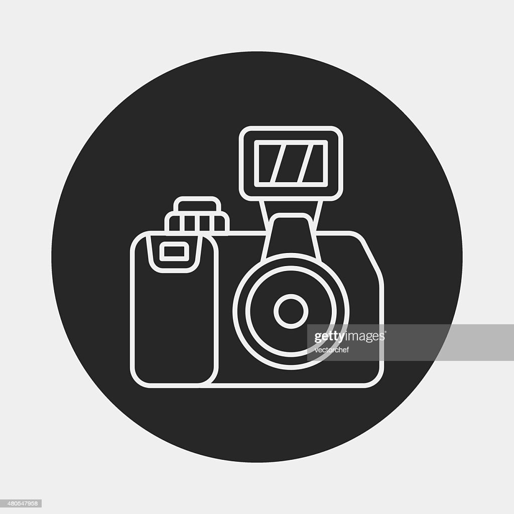 camera line icon : Vector Art