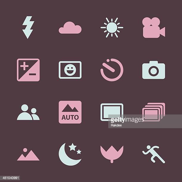 Camera Menu Icons Set 1 - Color Series | EPS10