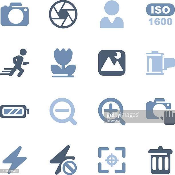 camera menu icons - aperture stock illustrations, clip art, cartoons, & icons