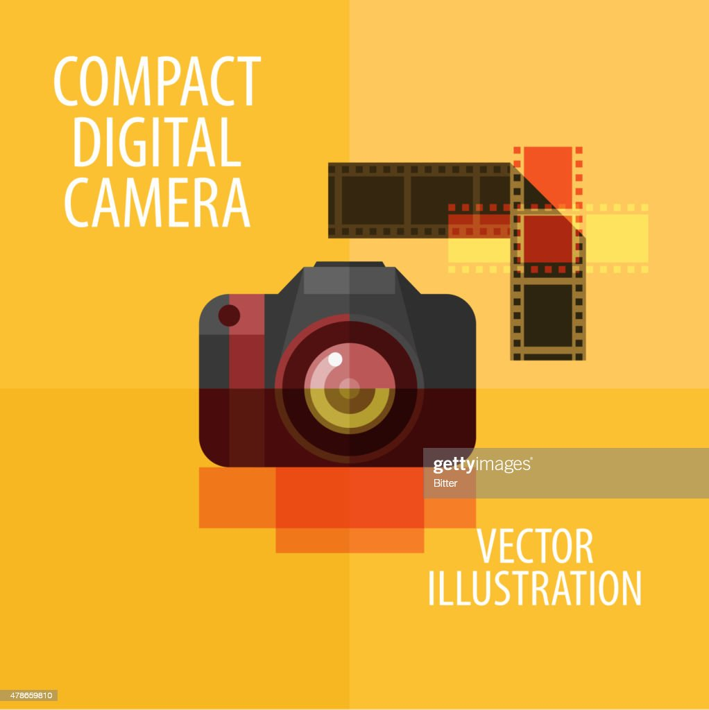 camera, photography. vector. flat illustration