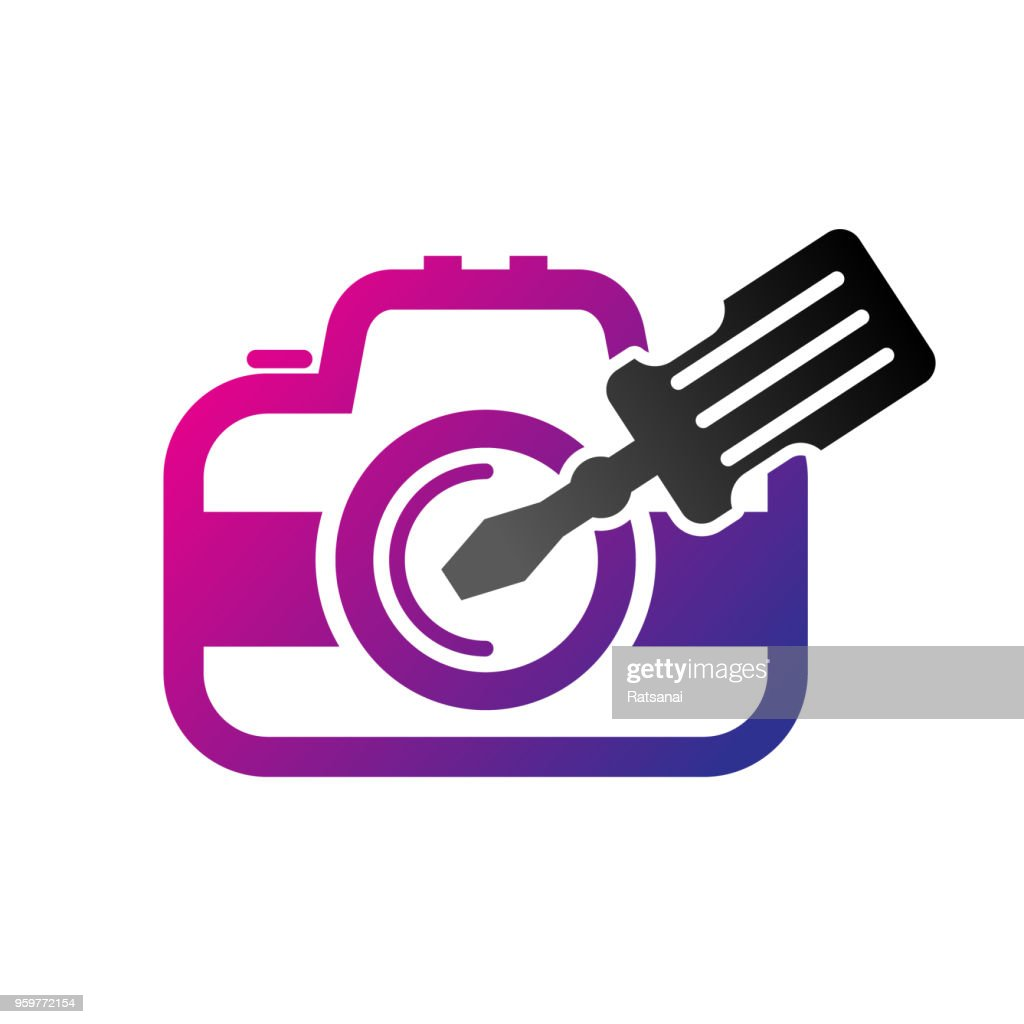 Kamera reparieren : Stock-Illustration