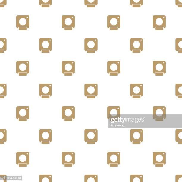 camera seamless pattern - webcam media apparaat stock illustrations
