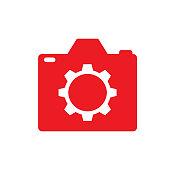 camera setting logo icon concept