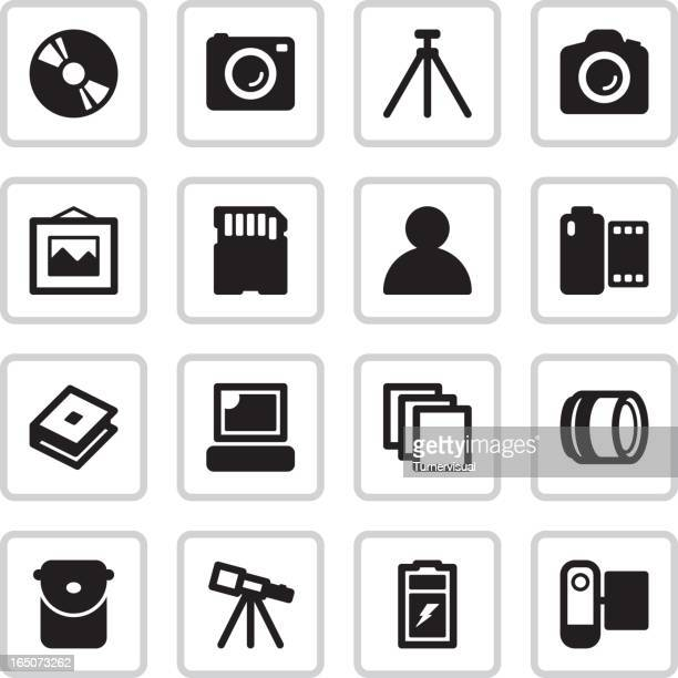Camera Shop & Kiosk Icons | Black