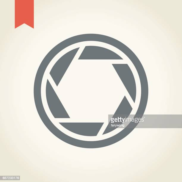 camera shutter icon - aperture stock illustrations, clip art, cartoons, & icons