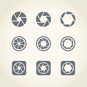 camera shutter icons