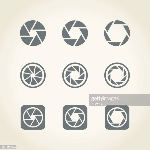 camera shutter icons - video camera stock illustrations, clip art, cartoons, & icons