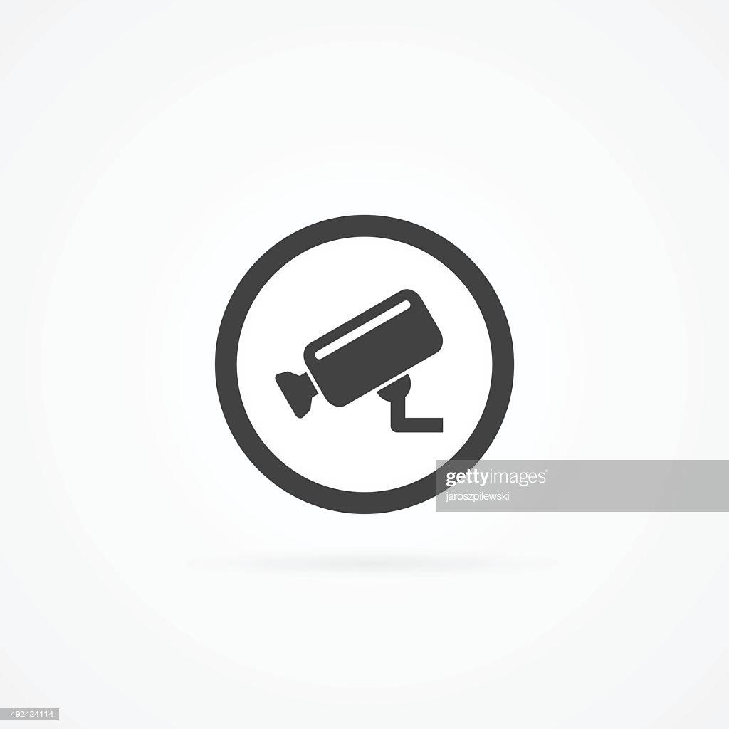 CCTV camera simple icon