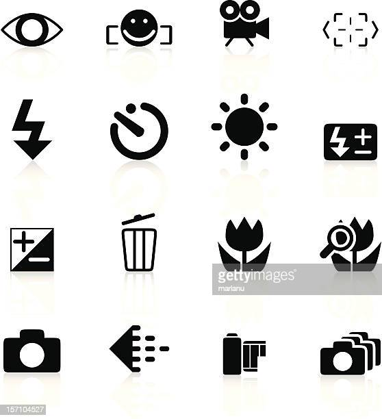 SLR camera symbols set1 - Black series
