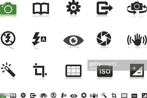 camera ui icons | pictoria series - shaking stock illustrations
