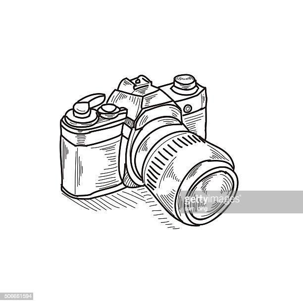 ilustrações, clipart, desenhos animados e ícones de a câmera - temas fotográficos