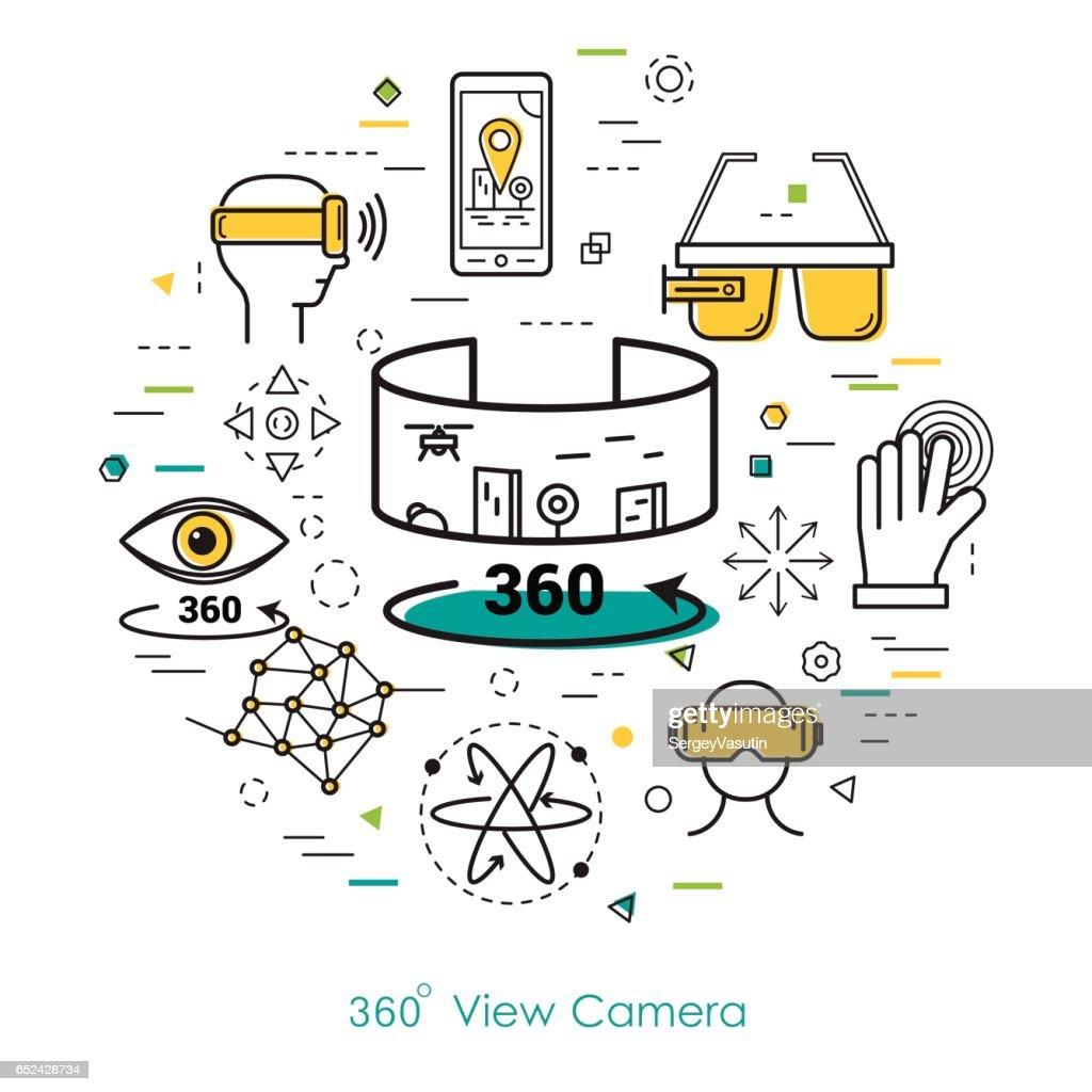 Camera view 360 - Line Art