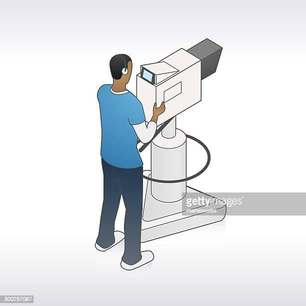 TV Cameraman Illustration
