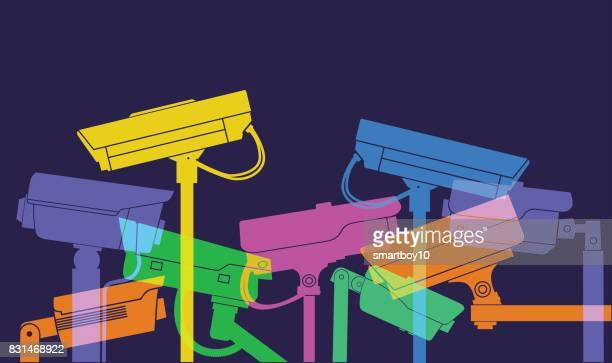 cctv cameras - security camera stock illustrations