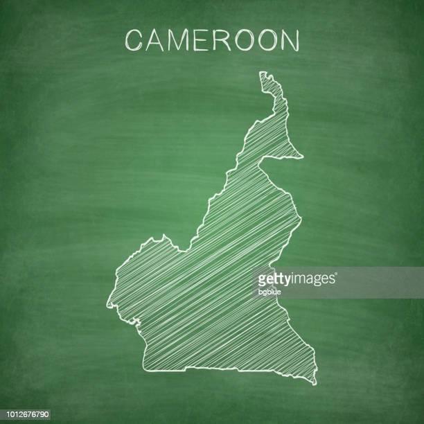 Kamerun-Landkarte auf Tafel - Tafel gezeichnet