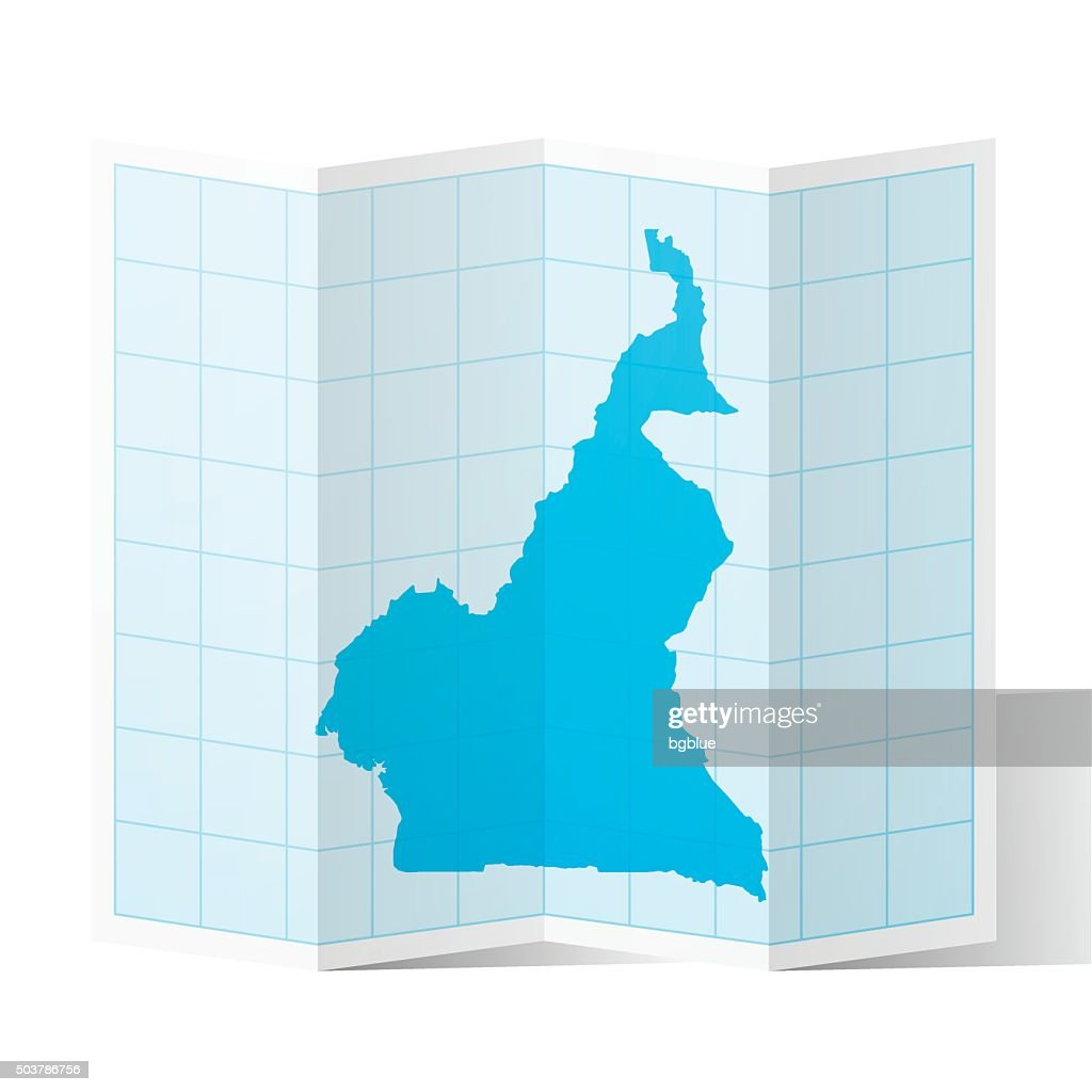 Cameroon map folded isolated on white background vector art getty cameroon map folded isolated on white background vector art ccuart Image collections