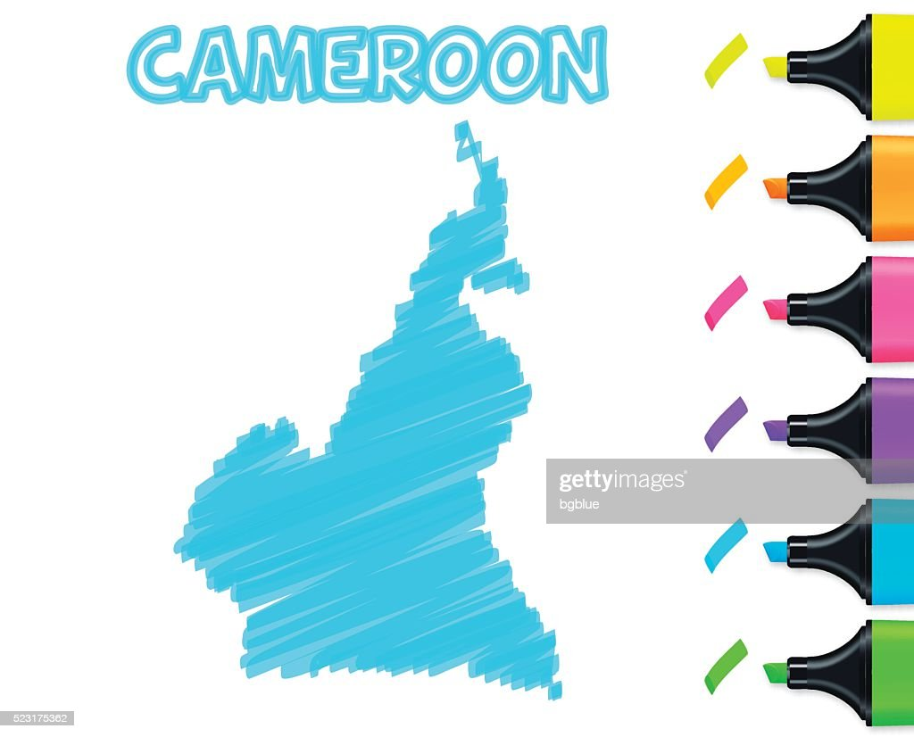 Cameroon map hand drawn on white background blue highlighter vector cameroon map hand drawn on white background blue highlighter vector art ccuart Image collections